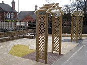 Playground Equipment for Schools - Quiet Learning Area with intesting path