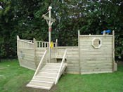 Playdays Playground Equipment - Pirate Ship - side view
