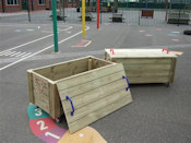 Adventure Playground Equipment - Wooden Accessories