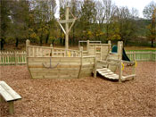 Playdays Playground Equipment - Pirate Ship - front view