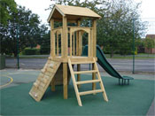 Adventure Playground Equipment - Wooden Play Houses and Forts